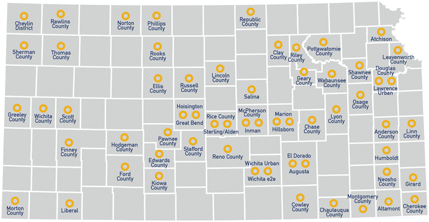 E-Communities Map NetWork Kansas